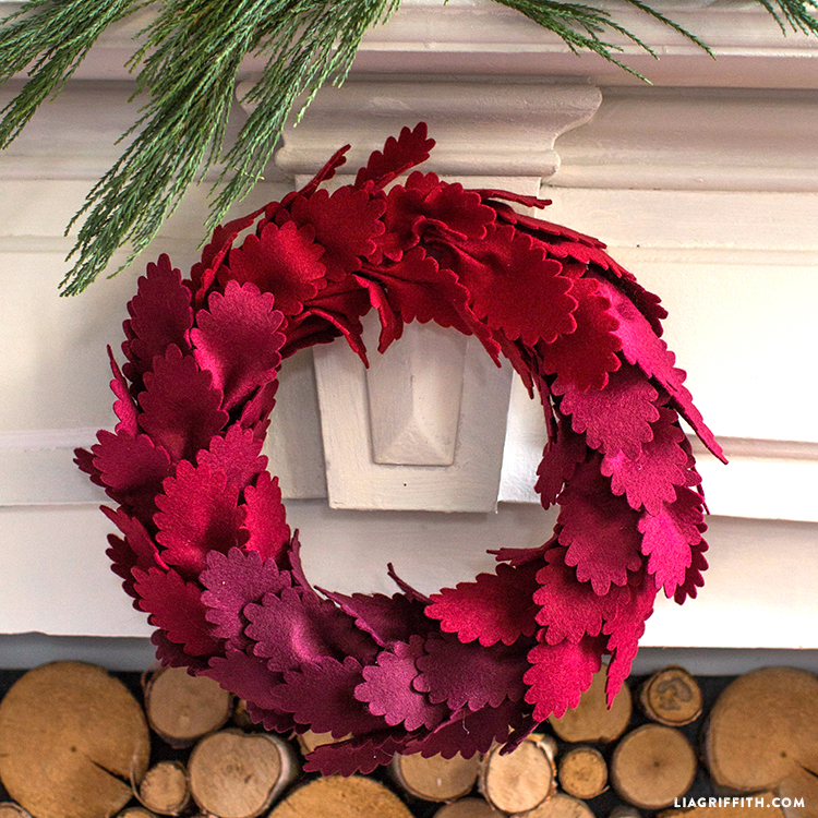 ombre felt wreath
