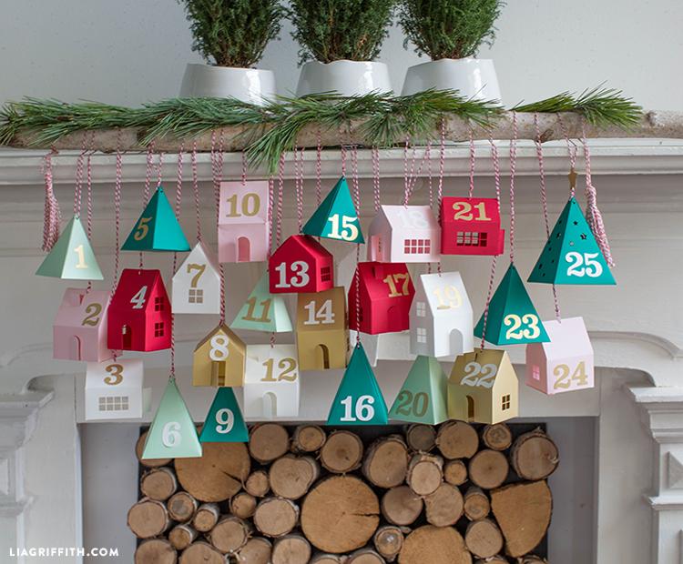 diy hanging advent calendar