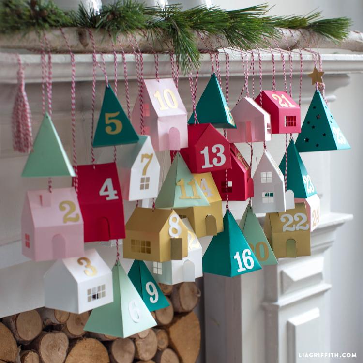 diy advent calendar village