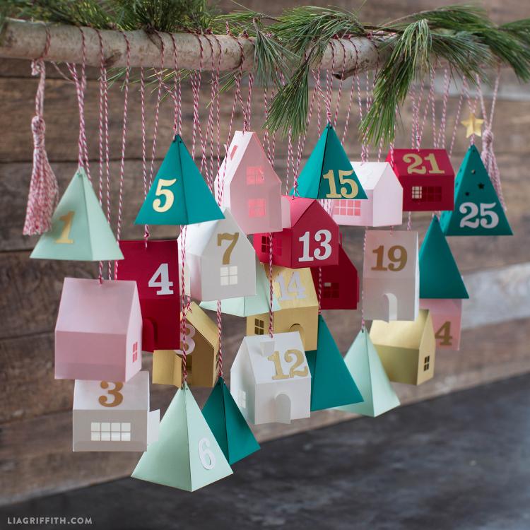 diy paper advent calendar