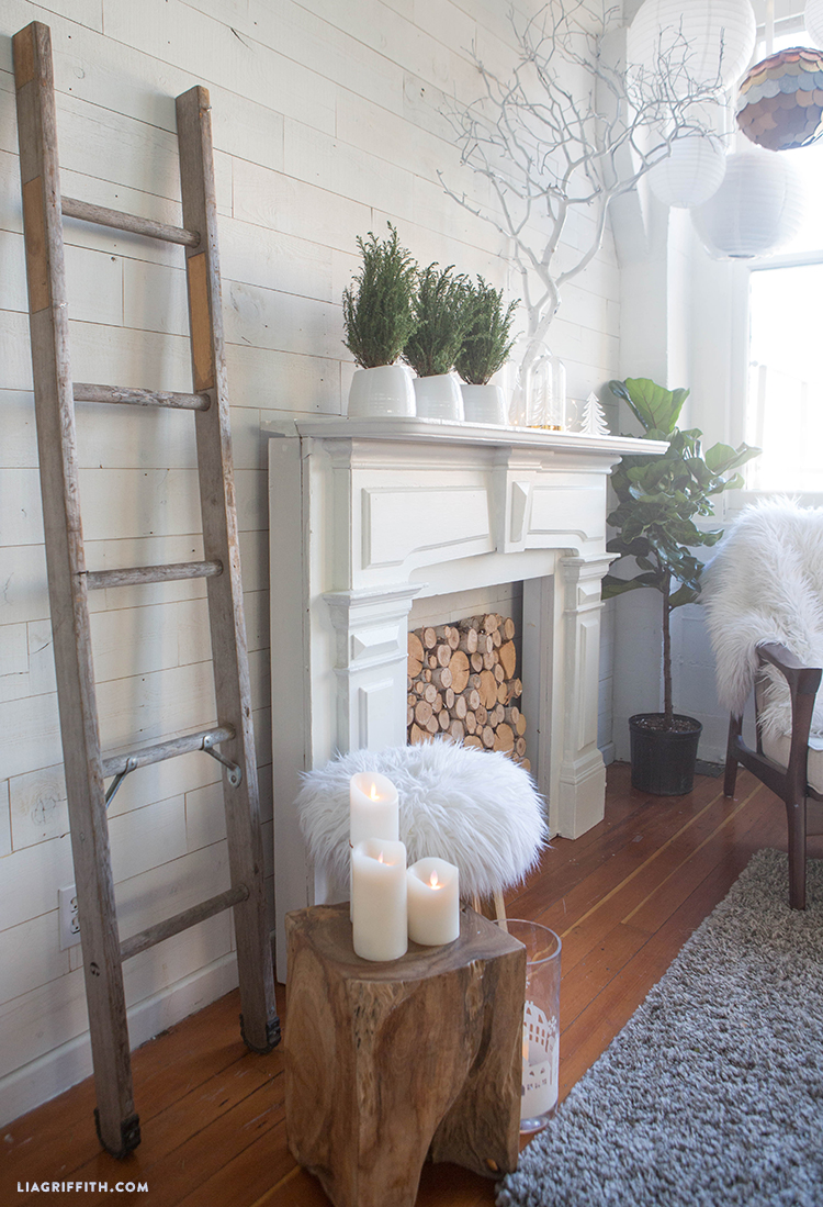 white wood wall with stikwood