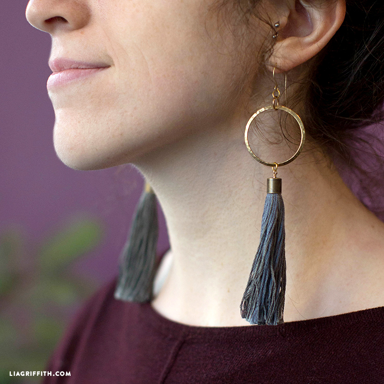 diy tassel earrings