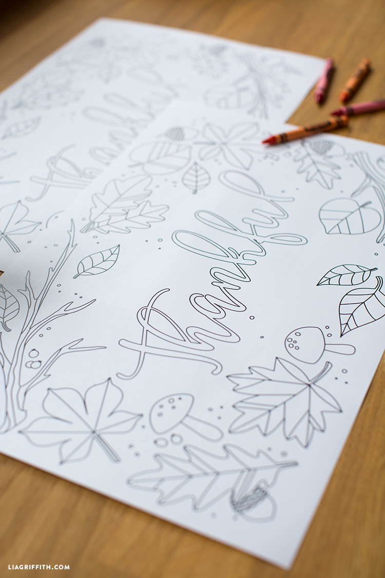 diy kids thanksgiving coloring pages