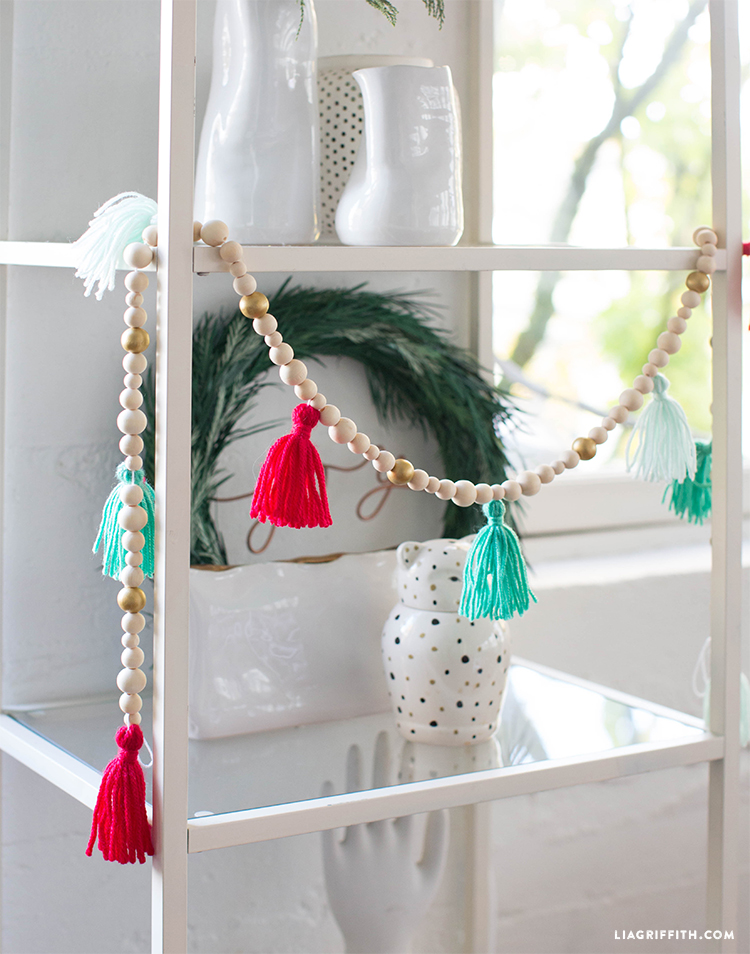 garland with beads and tassels
