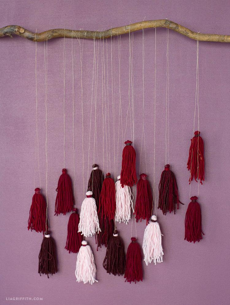 yarn tassel art diy
