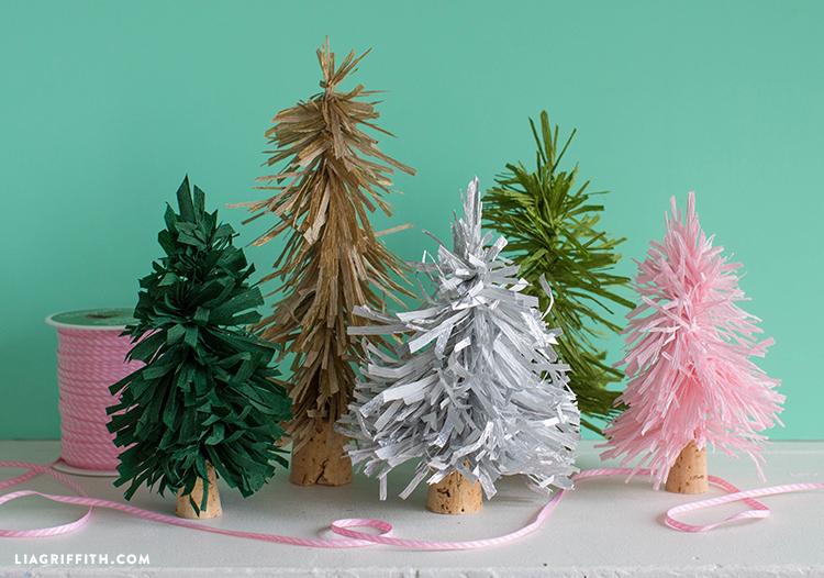 crepe paper trees