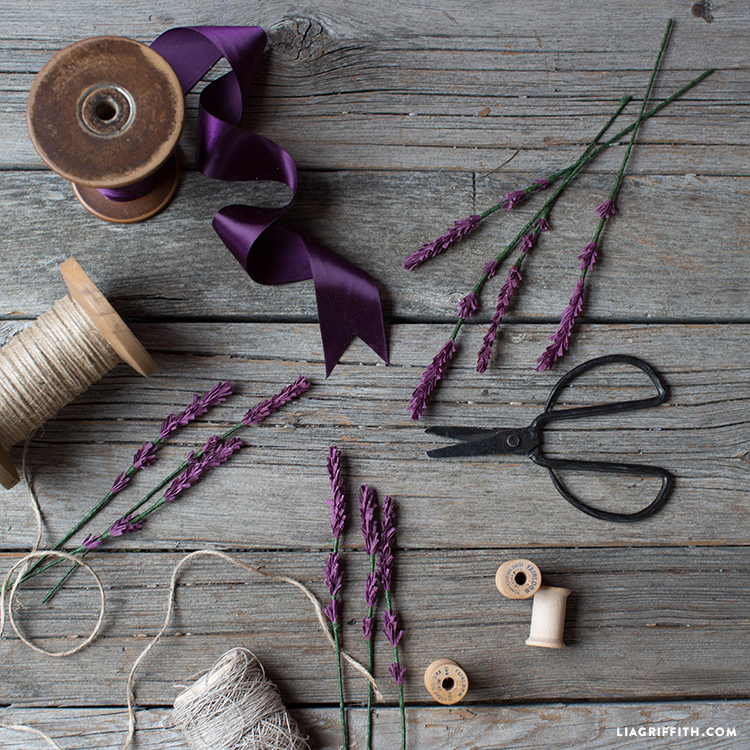 diy paper lavender