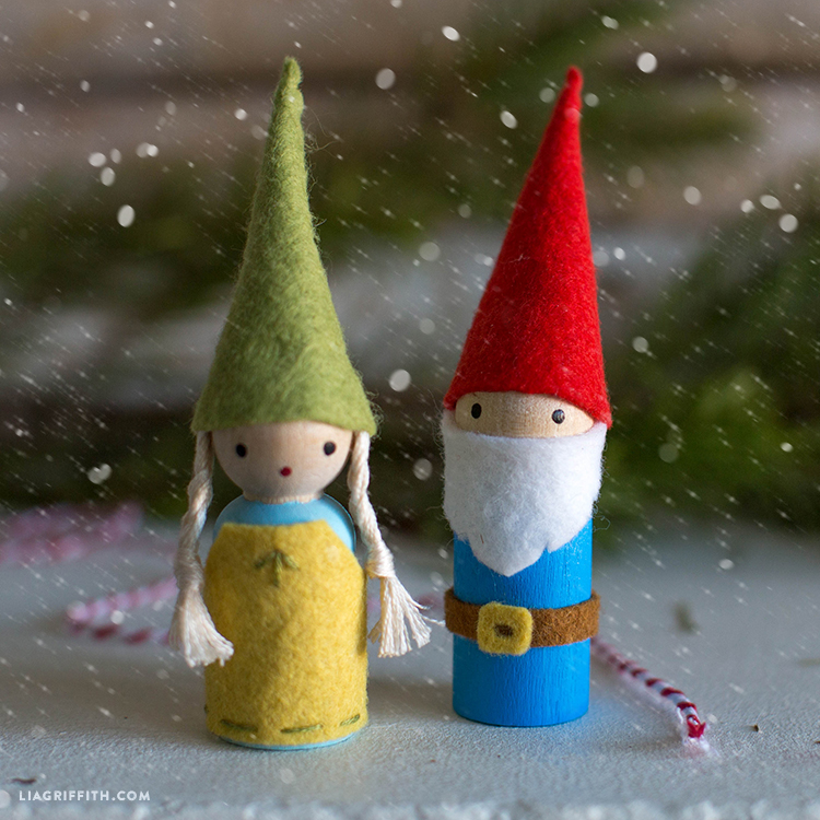 whimsical felt gnomes