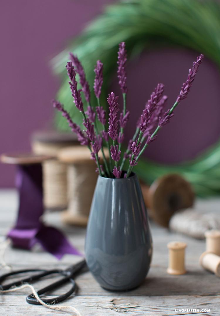 diy crepe paper lavender