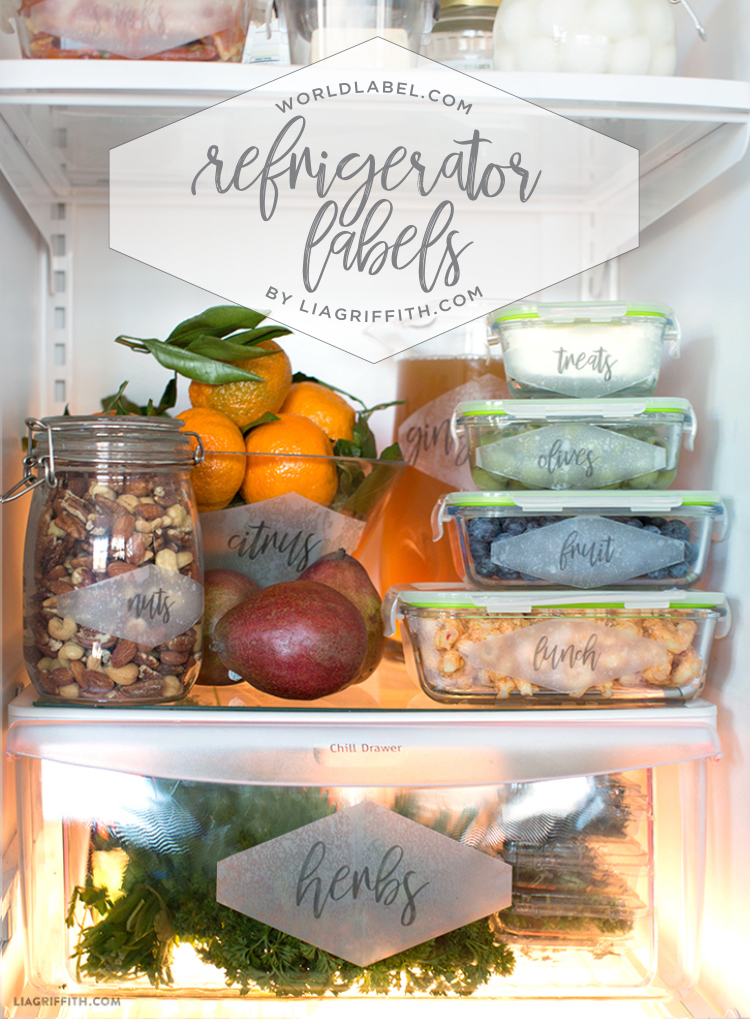 printable fridge label organization