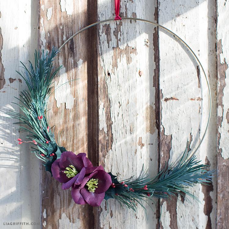 asymmetrical winter wreath