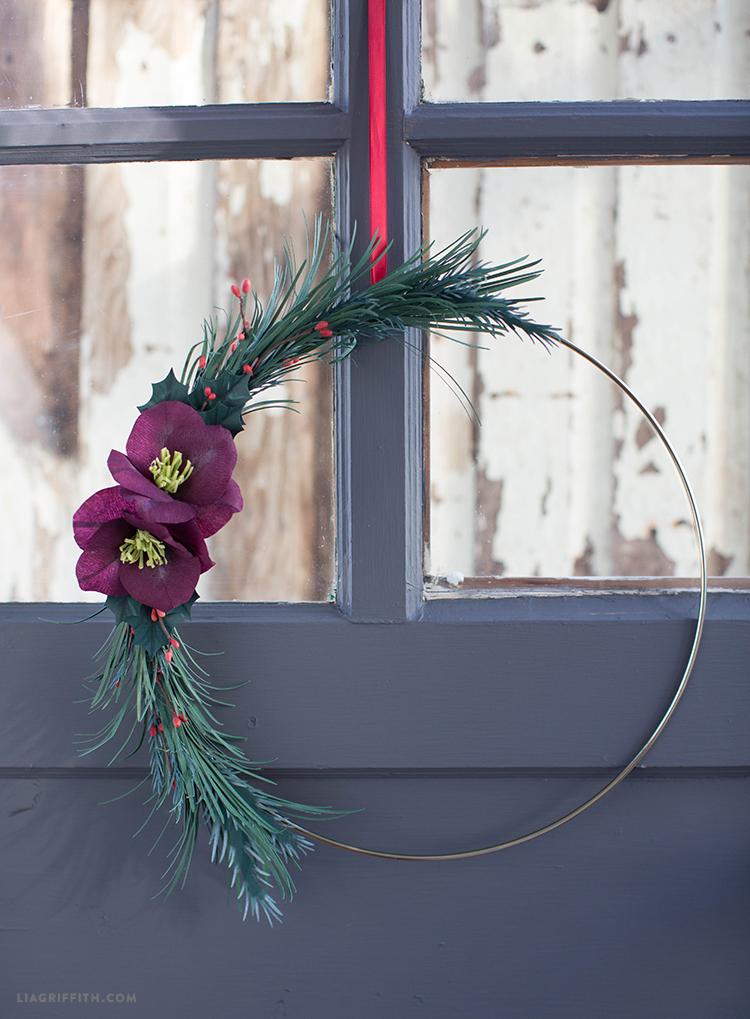 winter greens wreath