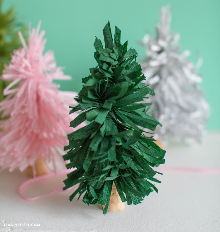 diy crepe paper trees