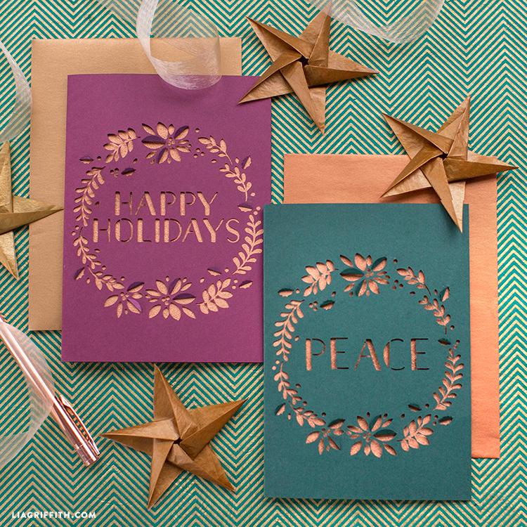 papercut christmas greeting cards