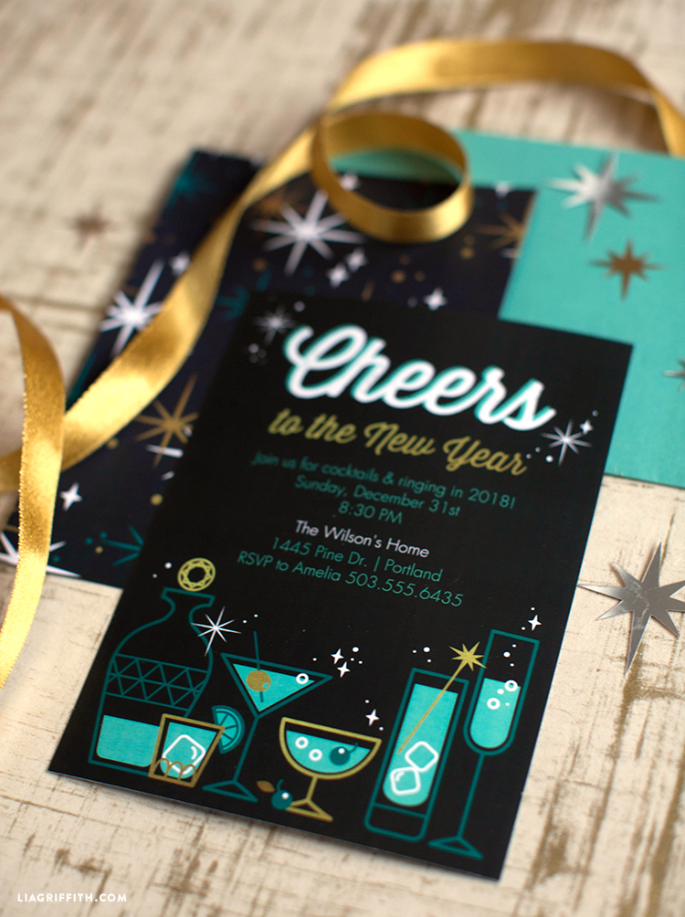 diy new year's party invitations