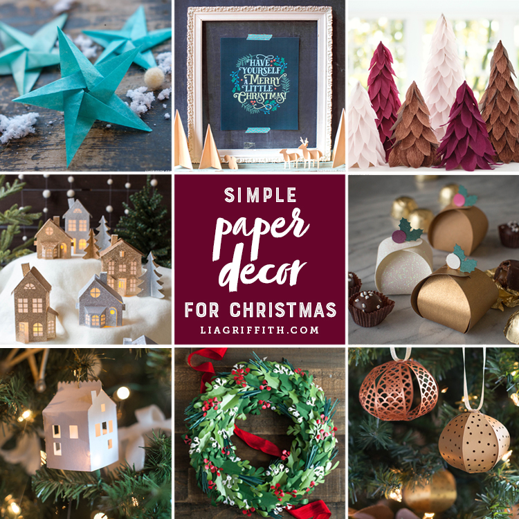 Our Best Simple Paper Diy Christmas Decorations Lia Griffith
