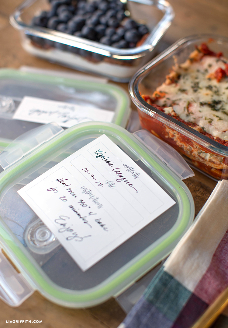 food labels freezer