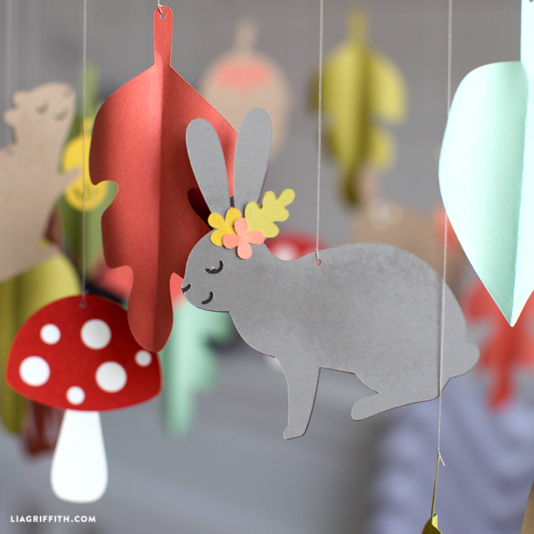 papercut baby mobile