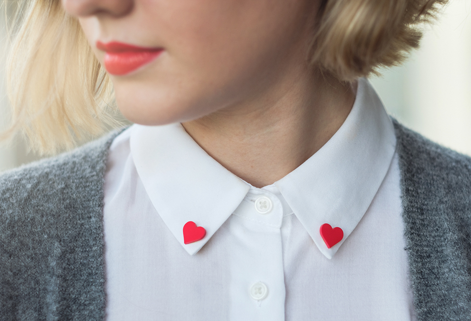 diy shrink film heart jewelry