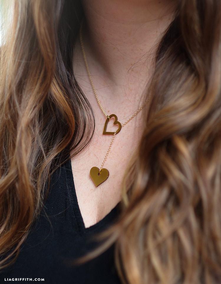 shrink film heart jewelry