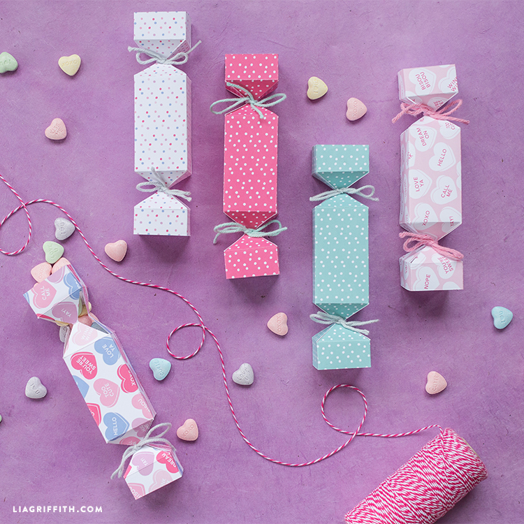 printable candy popper for valentine's day