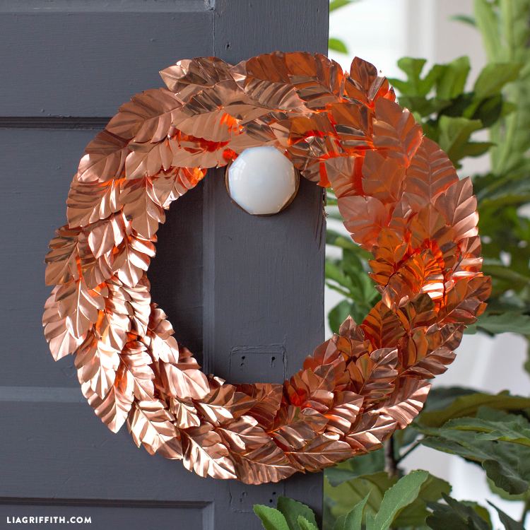 diy copper wreath