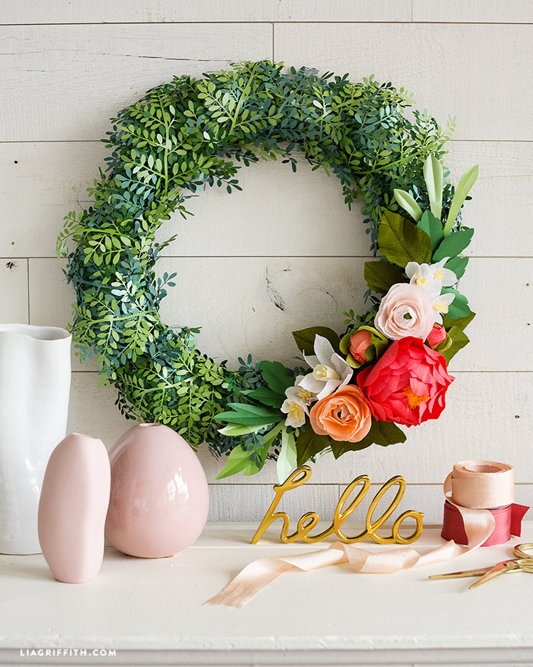 boxwood wreath for spring