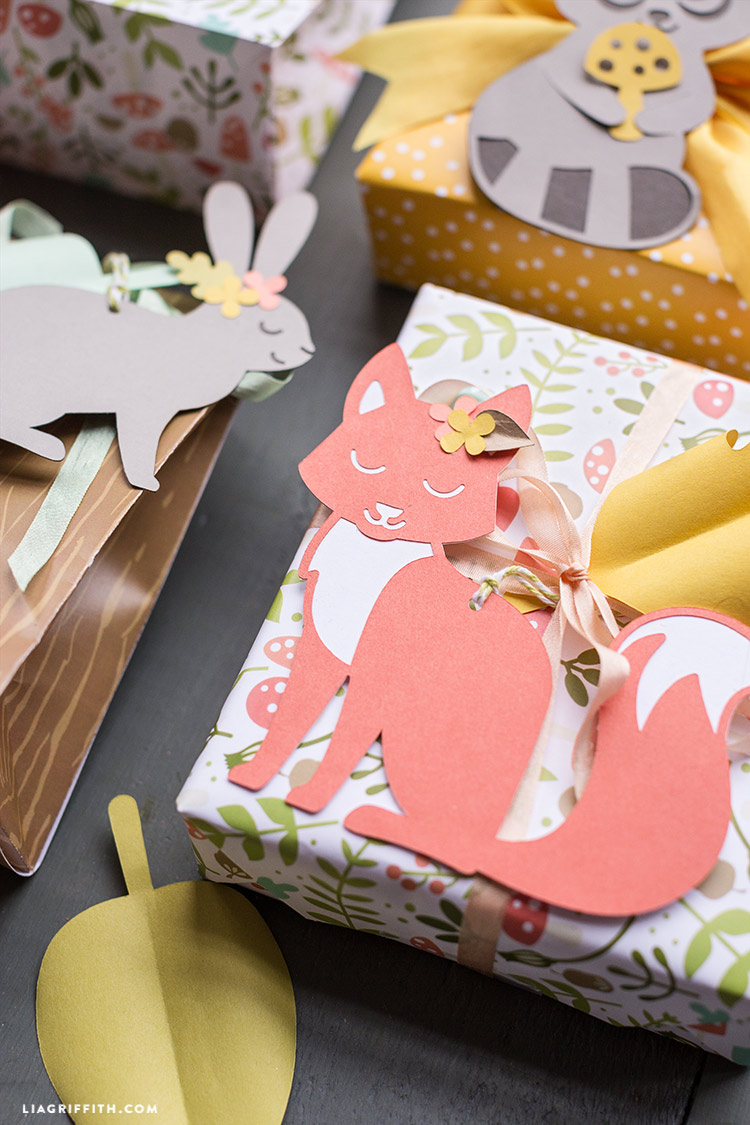 diy woodland gift wrapping