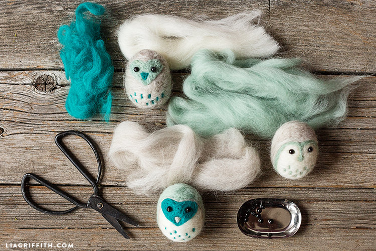 diy needle felted animals