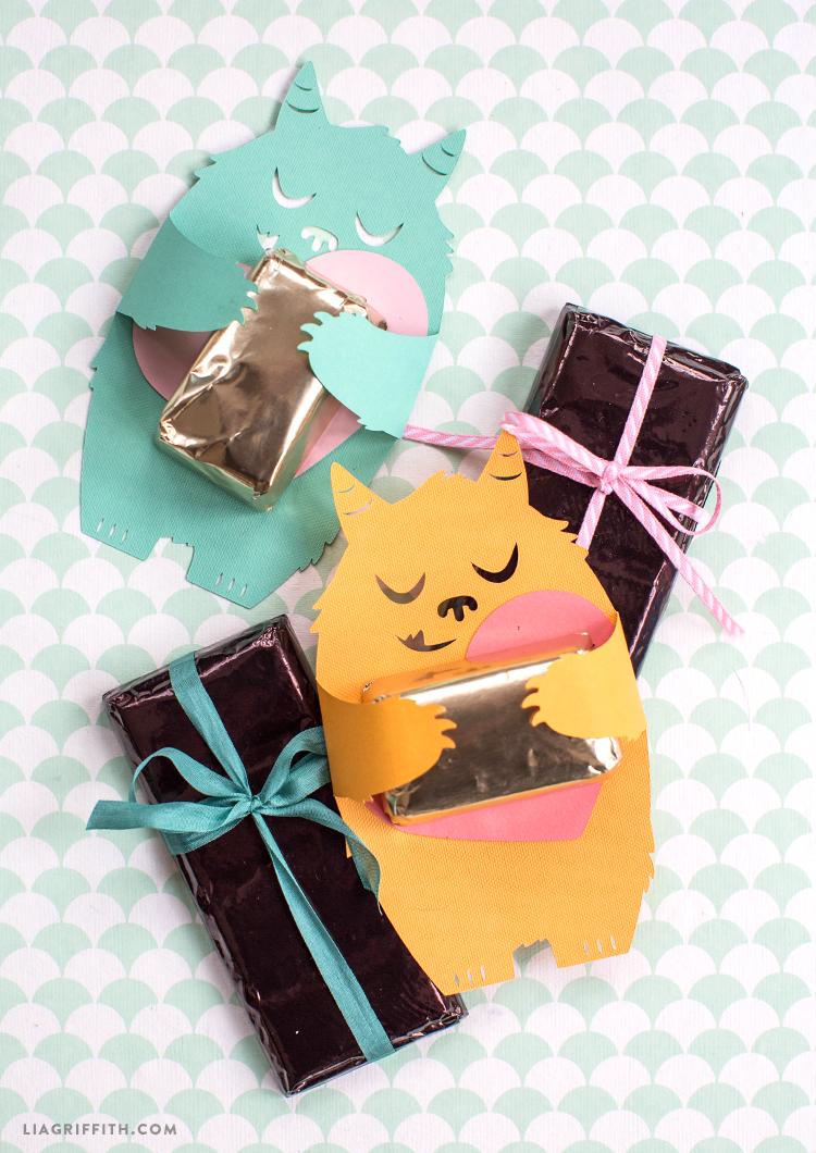 papercut monster candy huggers