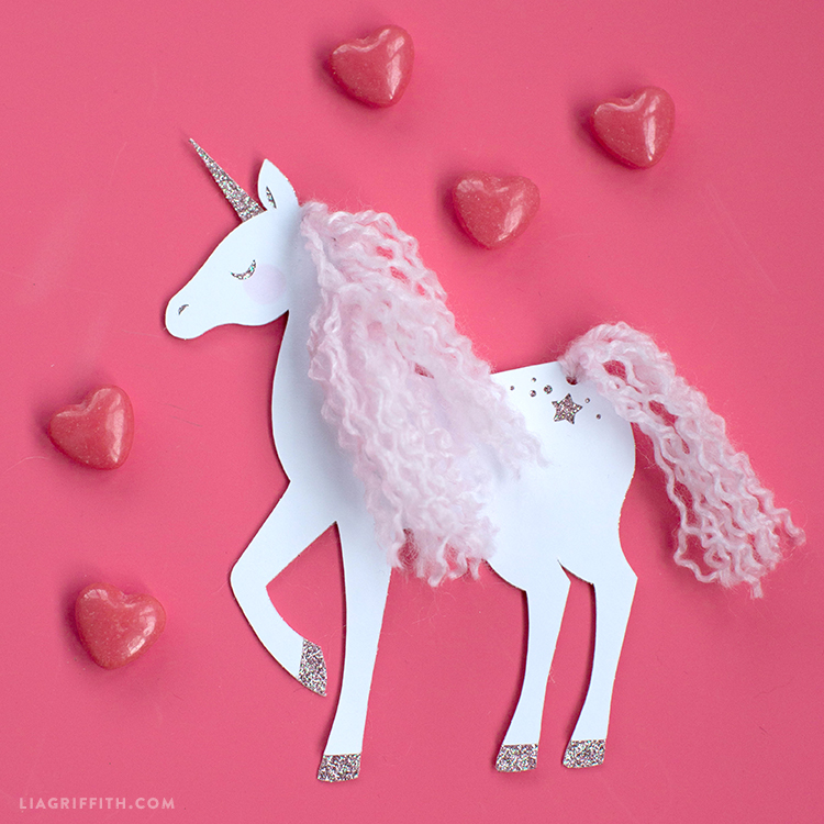 diy unicorn valentine's tags