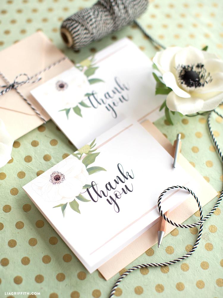 printable wedding thank yous