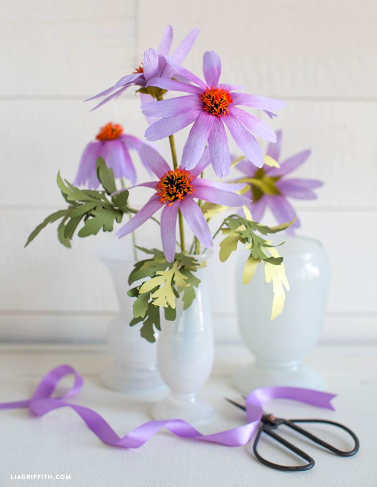 diy paper echinacea flowers