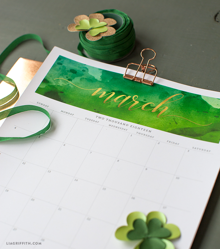 March 2018 calendar