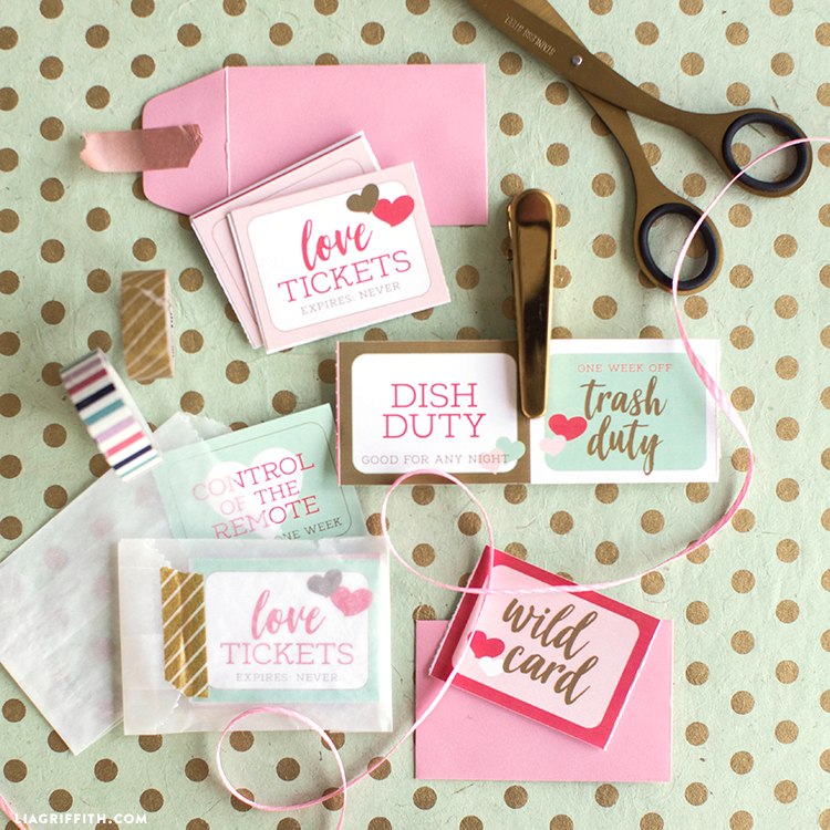 Download A Set Of Cute Printable Love Coupons For Valentine S Day