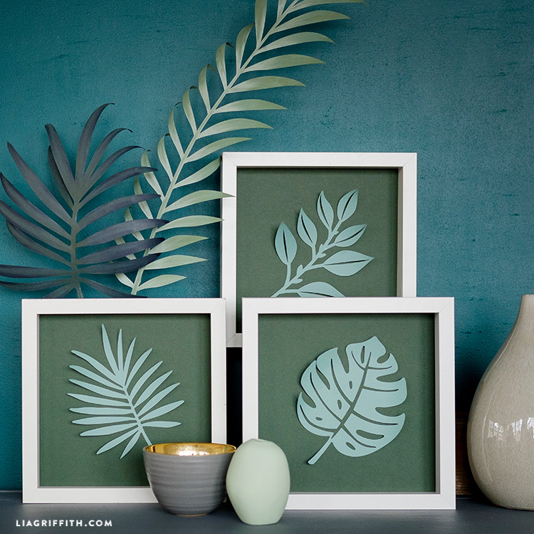 paper tropical leaves