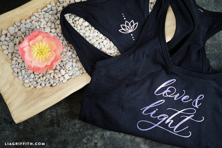 love & light yoga top