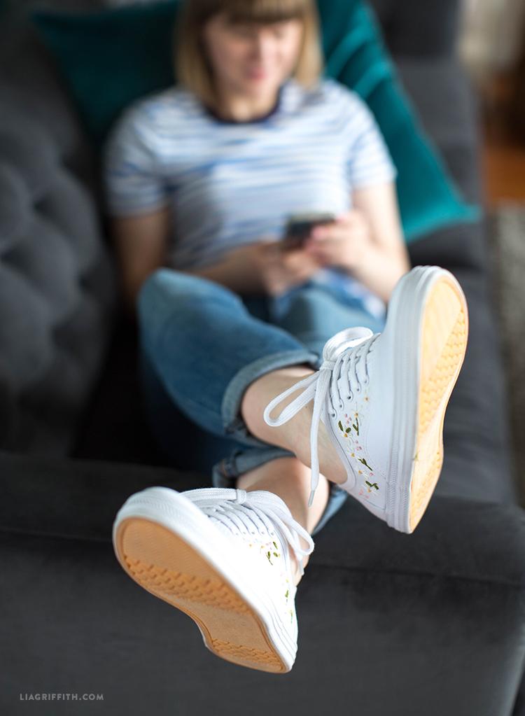 cute white sneakers