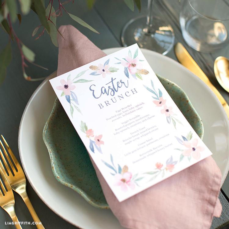 printable easter brunch menus