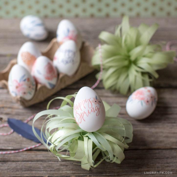 Watercolor Tattoo Egg Decorations
