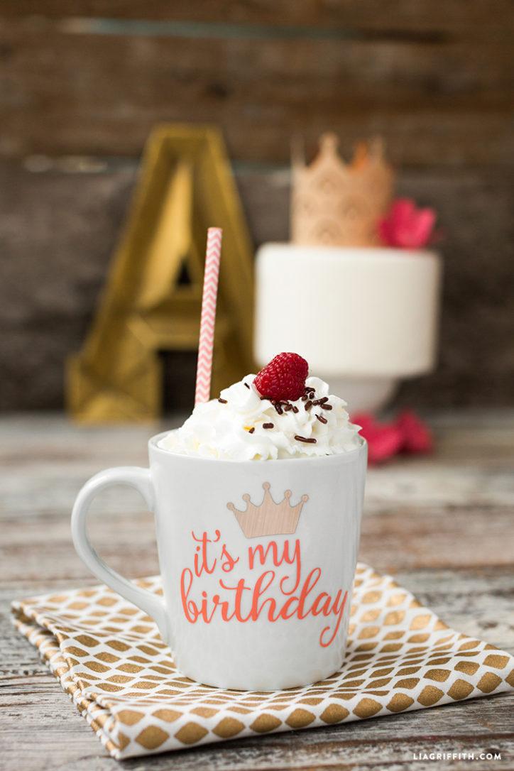 birthday mug decal