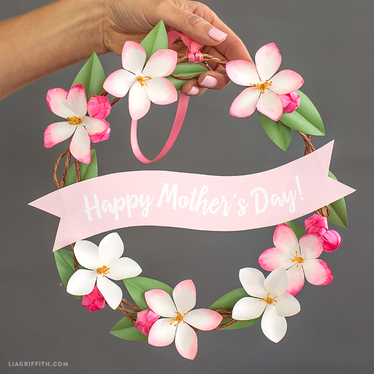 mini mother's day wreath
