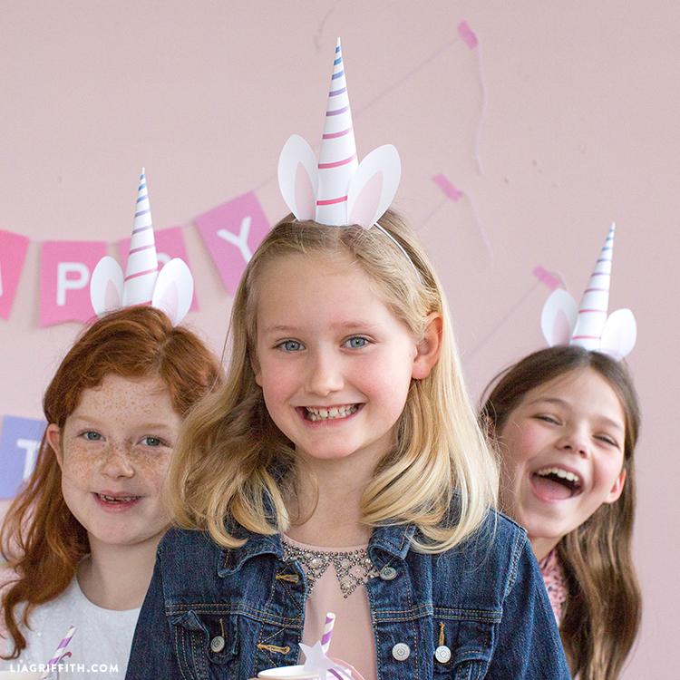 unicorn horn party hats