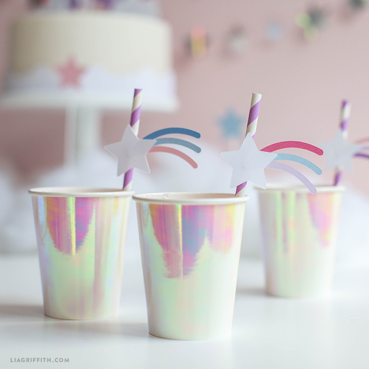 paper straw toppers