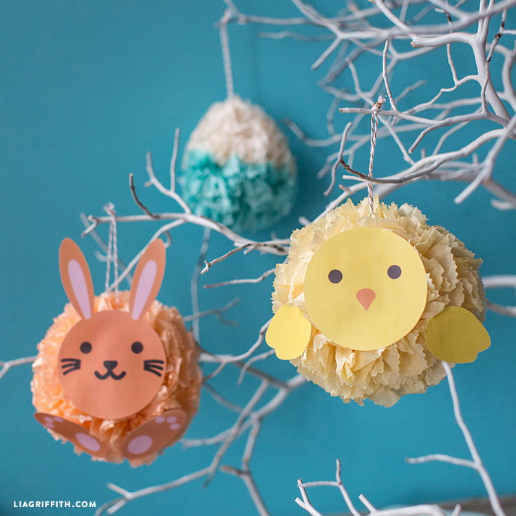 seasonal tissue poms
