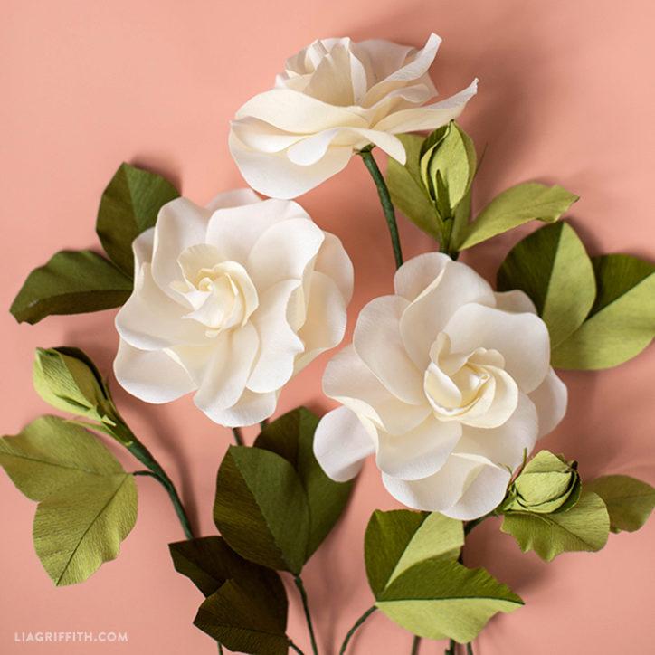 crepe paper gardenia
