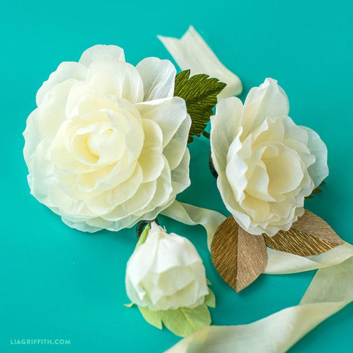 Crepe Paper Vanilla Rose