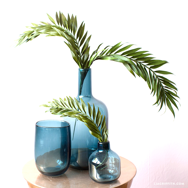 crepe paper palm fronds
