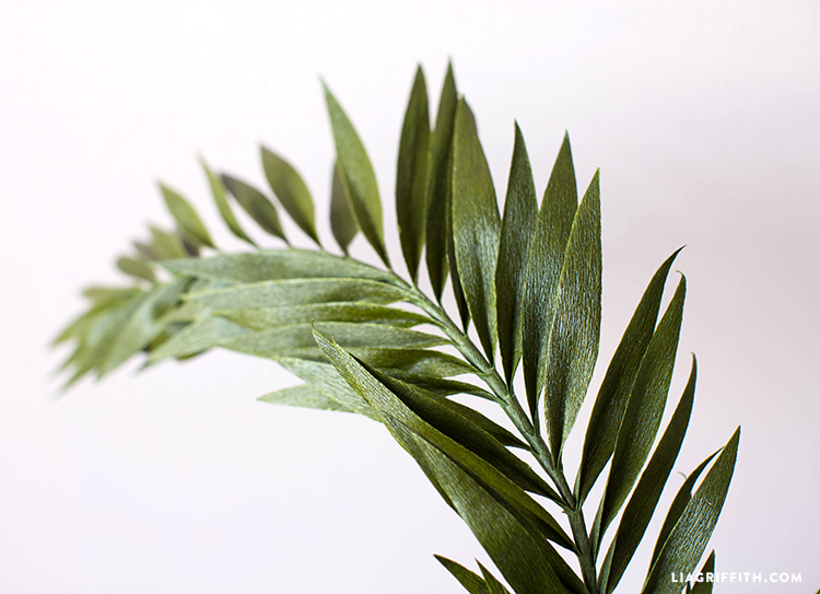 crepe paper palm leaves