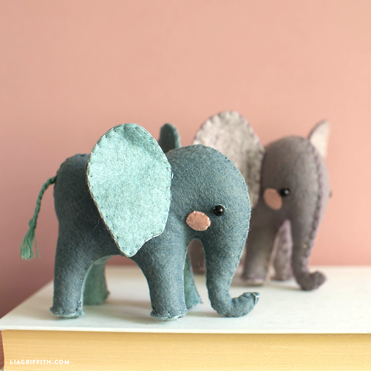 felt elephant stuffies